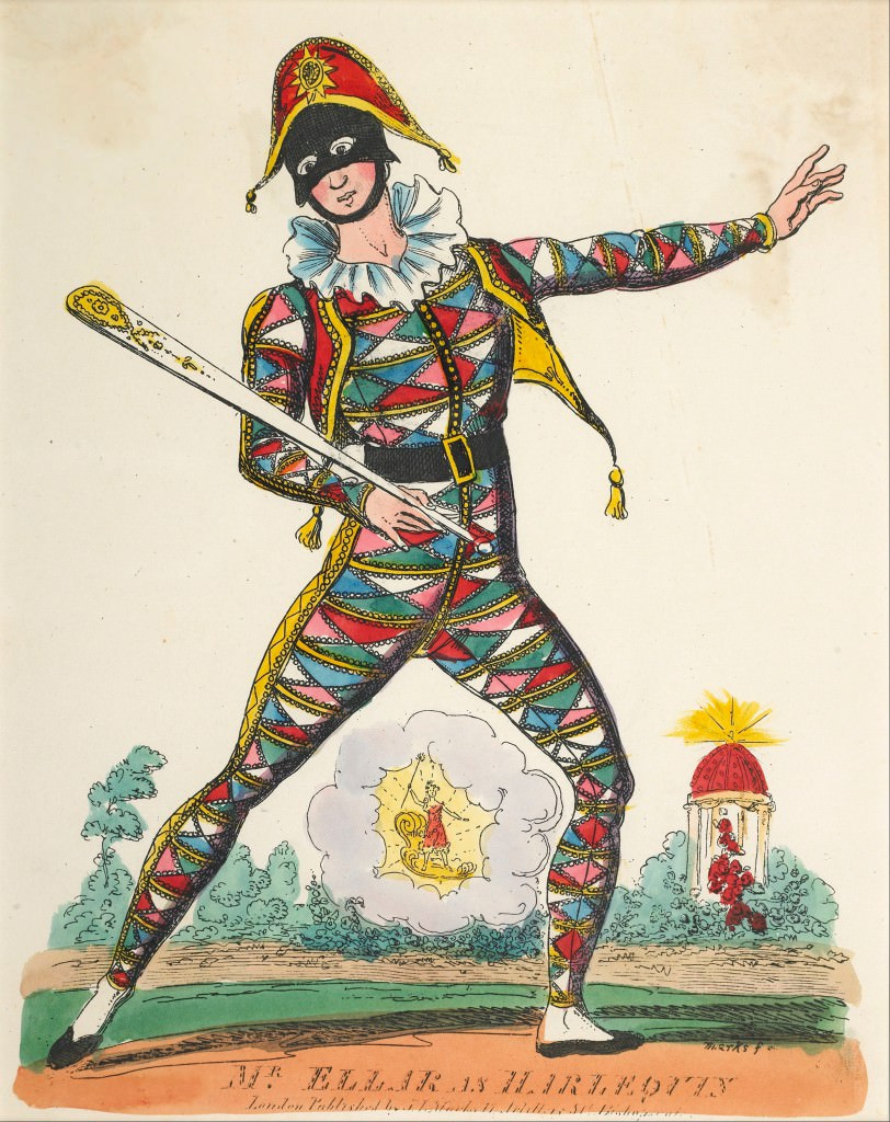 Grouth of harlequin from commedia dell 39 arte to for Bergamo toons