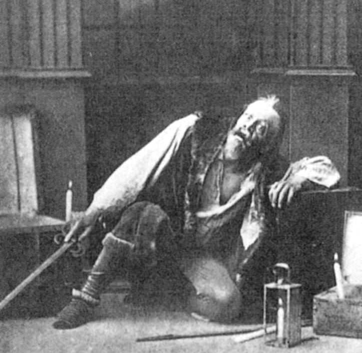 Constantin Stanislavski in The Society of Art and Literature's 1888 production of Alexander Pushkin's The Miserly Knight.