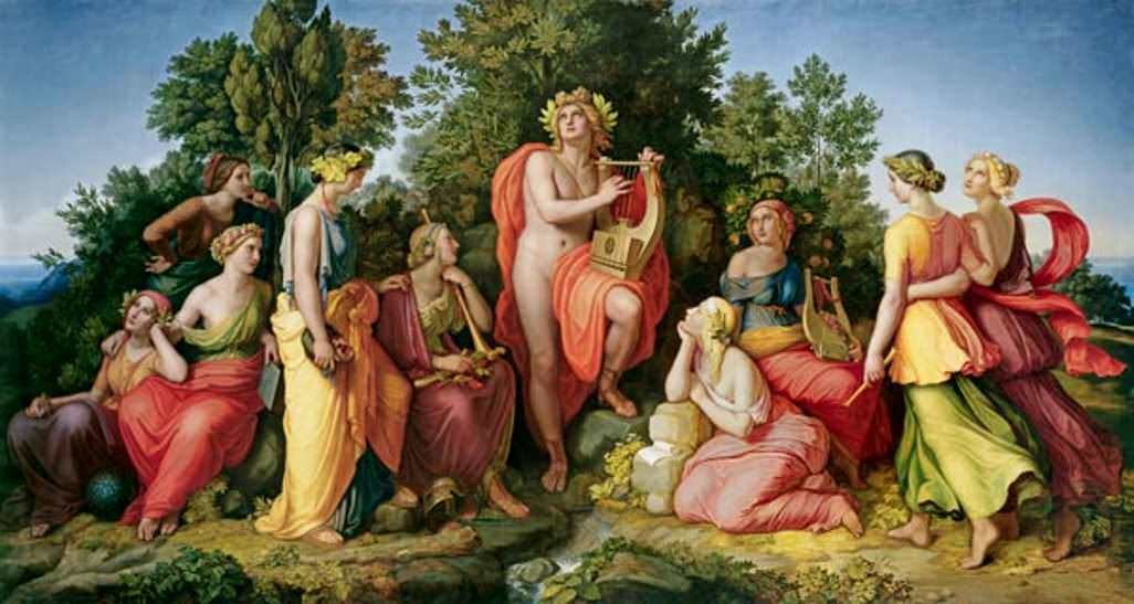 Apollo And The Muses Heinrich Maria Hess
