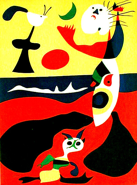 Composition II (Dupin 15). Original color pochoir, 1934