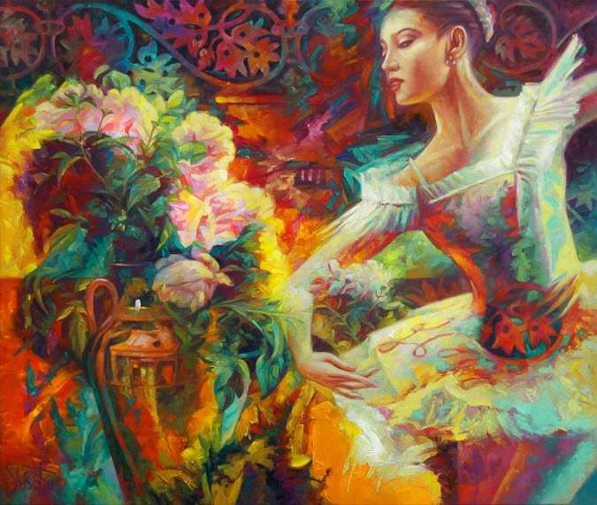 Dancing with flowers by Yury Fomichev