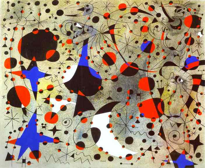 The Nightingale's Song at Midnight and the Morning Rain - Joan Miro, 1940