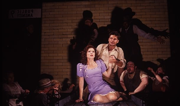 Hunter Foster and Jennifer Laura Thompson in Urinetown (2001)