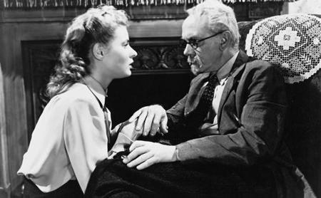 With Ingrid Bergman in Spellbound