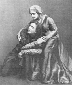 Kachalov_and_Knipper_in_Hamlet_1911