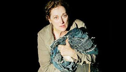 """Meryl Streep as Mother Courage in Brecht's """"Mother Courage and Her Children,"""" directed by George C. Wolfe"""