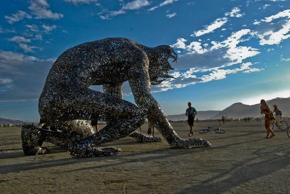 3D Sculptures in Desert
