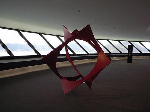 Niterol Contemporary Art Museum, Rio de Janeiro inside