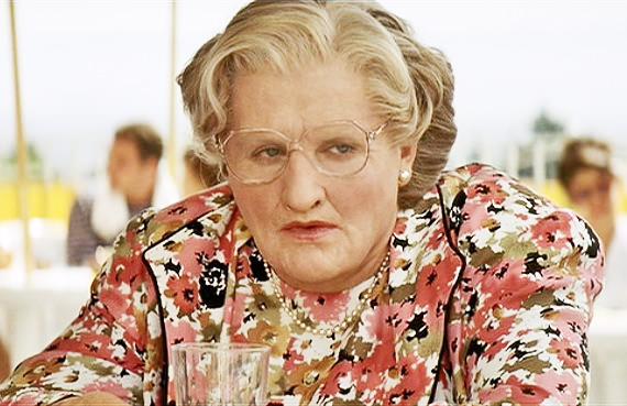 Robin Williams in Mrs Doubtfire, 1993