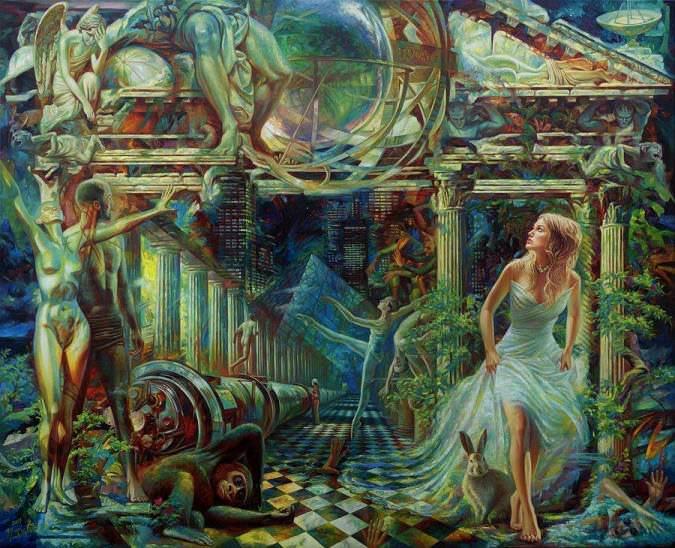 Alice in wonderland by Yury Fomichev