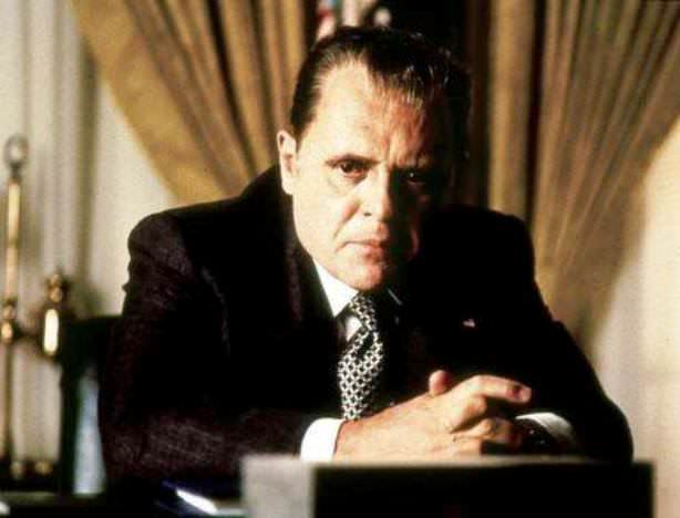 Anthony Hopkins as Richard Nixon in Nixon, 1995