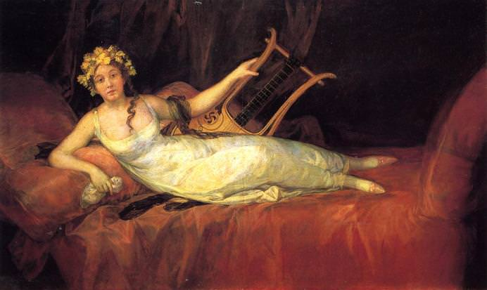 Muse Euterpe - Francisco Goya, 1805