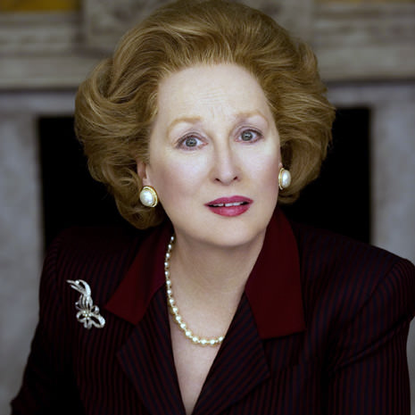 Meryl Streep won the Golden Globe for best actress as Margaret Thatcher in The Iron Lady (2011)